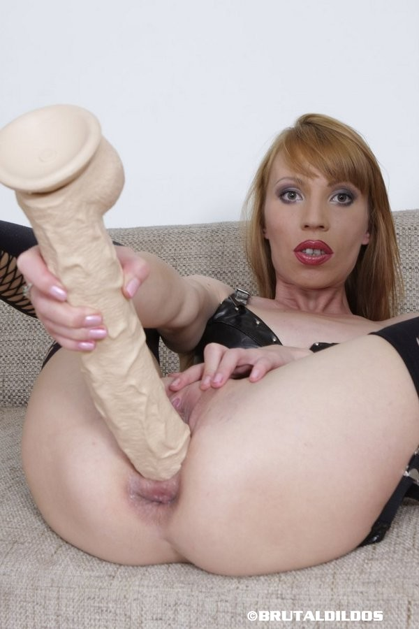 Anal masturbation with dildo up tight asshole 8